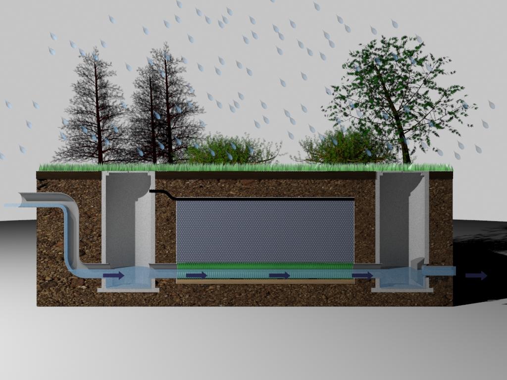 Bassin de r tention enterr geolight retention eaux pluviales - Bassin de retention maison individuelle ...
